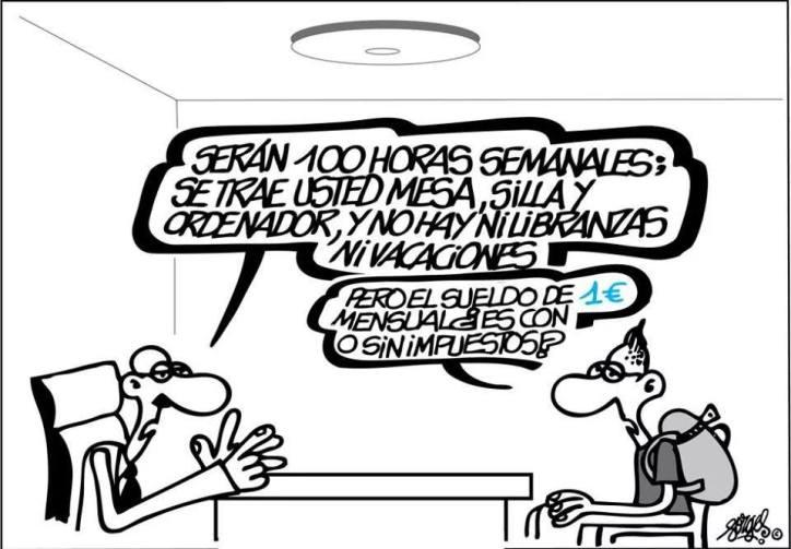 Resultado de imagen de salarios viñetas